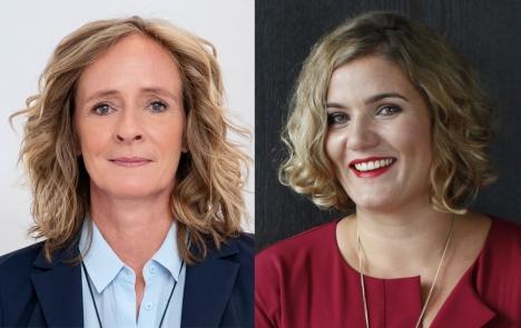 Isabella Neven DuMont (links) verkauft die Mitteldeutsche Zeitung an Yvonne Bauer/ Fotos: Sorin Morar - DuMont, Bauer Media Group